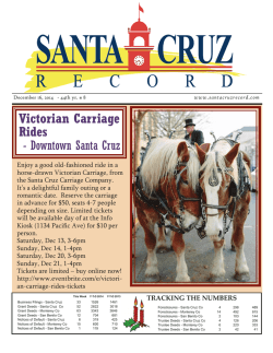 Victorian Carriage Rides - Santa Cruz Record