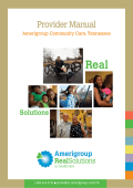 Medicaid Provider Manual - Providers – Amerigroup