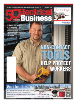 NON-CONTACT HELP PROTECT WORKERS - Electrical Business