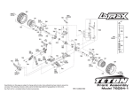LaTrax Teton (76054-1) Exploded Views - Traxxas