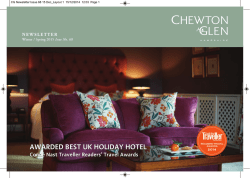 AwArded Best UK HolidAy Hotel - Chewton Glen