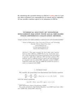 NUMERICAL SOLUTION OF NONLINEAR SINE - ResearchGate