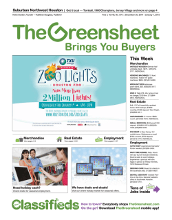 This Week - The Greensheet