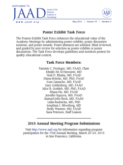 72nd Annual Meeting, Denver, Colo., March 21-25, 2014
