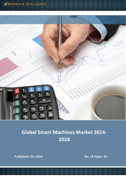 R&I: Global Smart Machines Market - Size, Share, Global Trends 2014-2018