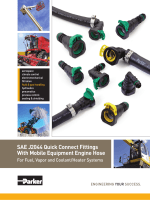 SAE J2044 Quick Connect Fittings With Mobile Equipment Engine