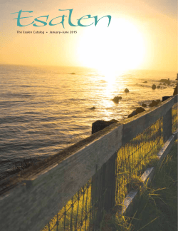January through June 2015 Catalog - Esalen Institute