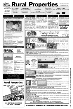 Classified Ad Listings - Ontario Farmer