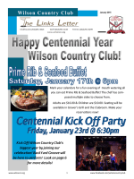 Newsletter - Wilson Country Club