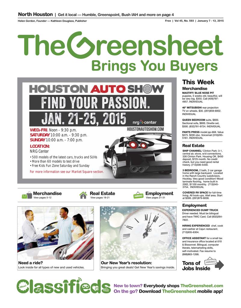 Employment - The Greensheet
