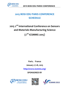 2015 bosi edu paris conference
