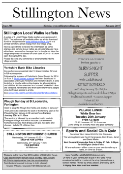 stillo news jan 2015.pgs - Stillington Village Online