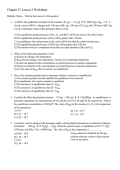 Chapter 15 Lesson 1 Worksheet - RHSMartinAPChem