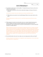 Unit 2 Worksheet 1