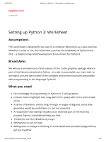 Setting up Python 3: Worksheet - ispython.com