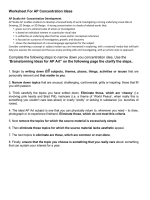 Worksheet For AP Concentration Ideas Complete the - Schoology