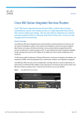 Cisco 890 Series Integrated Services Routers Data Sheet