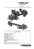 L1063 Air Disc Brakes Parts List