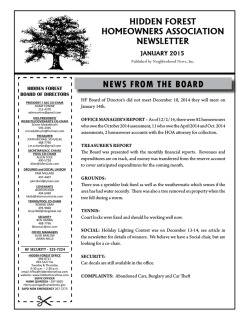 Current Newsletter - Neighborhood News