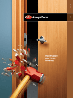 Acrovyn Doors Brochure - Construction Specialties, Inc.