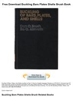 Free Download Buckling Bars Plates Shells Brush