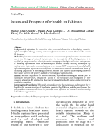 Issues and Prospects of e-health in Pakistan