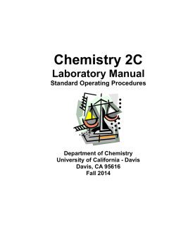 CHE 2C Lab Manual - UC Davis Department of Chemistry