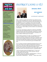 to view or print District Newsletter January 2015 - Lions District 11-E1