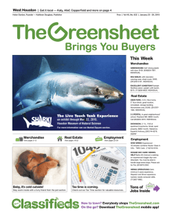 Employment - The Greensheet