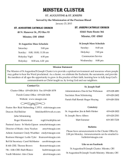Bulletin 1/25/2015 - St. Augustine Catholic Church
