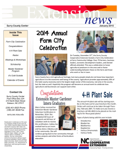 Contact Us Inside This Issue - Surry County Center