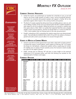 CIBC's Monthly FX Outlook
