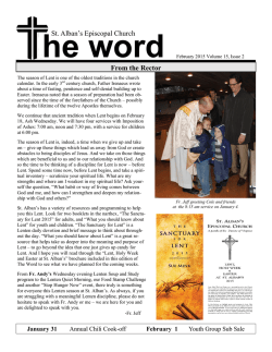 February Word - St. Alban's Episcopal Church