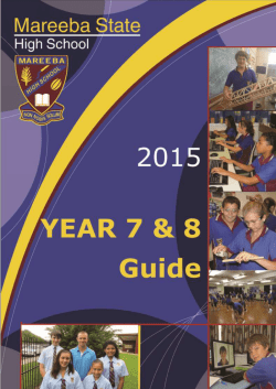 Year 7 & 8 Guide Booklet 2015