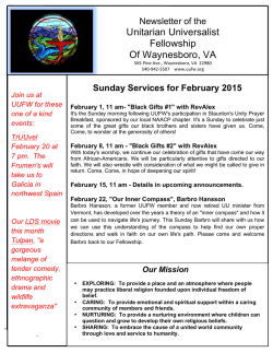 Sunday Services for February 2015