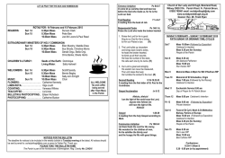 Bulletin 1.2.2015 for Jeannie - Our Lady & St Hugh Catholic Church