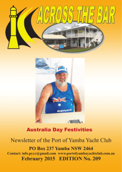 february 2015 - Port of Yamba Yacht Club