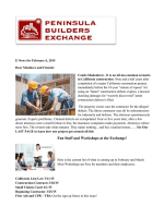 Weekly Bulletin - Peninsula Builders Exchange