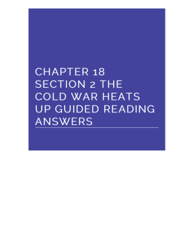 chapter 18 section 2 the cold war heats up guided reading answers