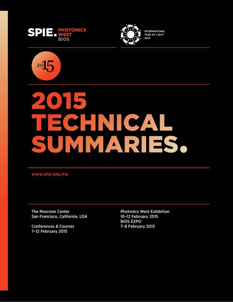 2015 Abstracts For Bios