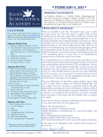 February 6 Newsletter - St. Scholastica Academy