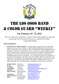 weekly - Los Osos High School Bands and Color Guard