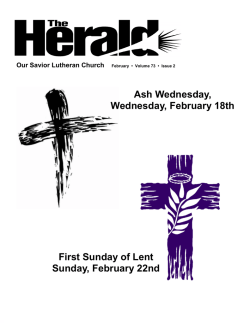 February 2015 Newsletter - Our Savior Lutheran Church