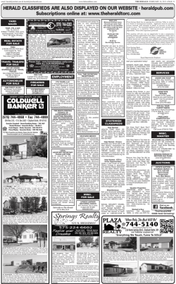 Classifieds - The Herald