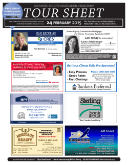 2/17/15 SAMCAR Tour Sheet - San Mateo County Association of