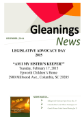"LEGISLATIVE ADVOCACY DAY 2015 ""AM I MY SISTER`S KEEPER"
