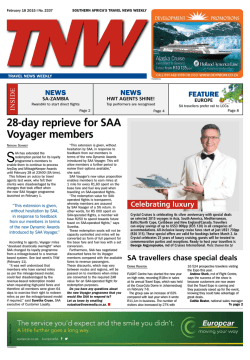 28-day reprieve for SAA Voyager members