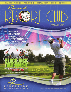 uPcoMInG entertAInMent - Riverside Casino & Golf Resort