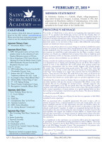 February 27 Newsletter - St. Scholastica Academy