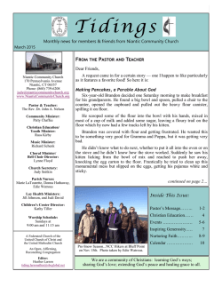 Tidings Newsletter - March 2015